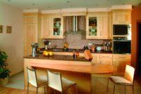 Moderní javorová rustikální kuchyně
