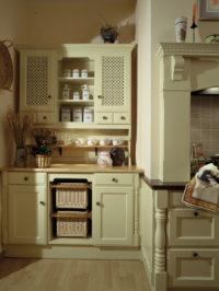 decentní krémová rustikální kuchyně