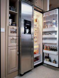 zabudovaná lednice v kuchyni