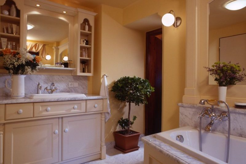 rustikální stylové koupelny