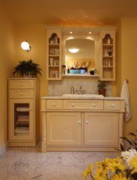 žulová béžová rustikální koupelna