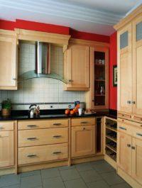 Minimalistická dřevěná moderní kuchyně